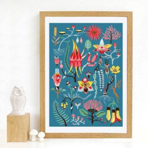 Tofutree Art Print 'Secret Garden'