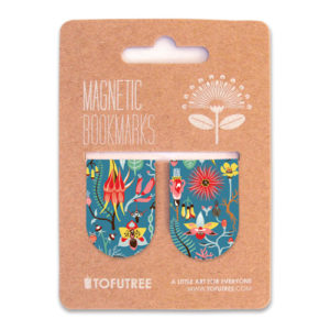 Tofutree Magnetic Bookmarks Set 'Secret Garden'