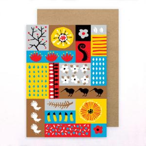 Tofutree Greeting Card 'Montage'