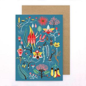 Tofutree Greeting Card 'Secret Garden'