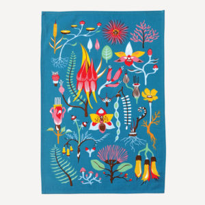 Tofutree Tea Towel 'Secret Garden'